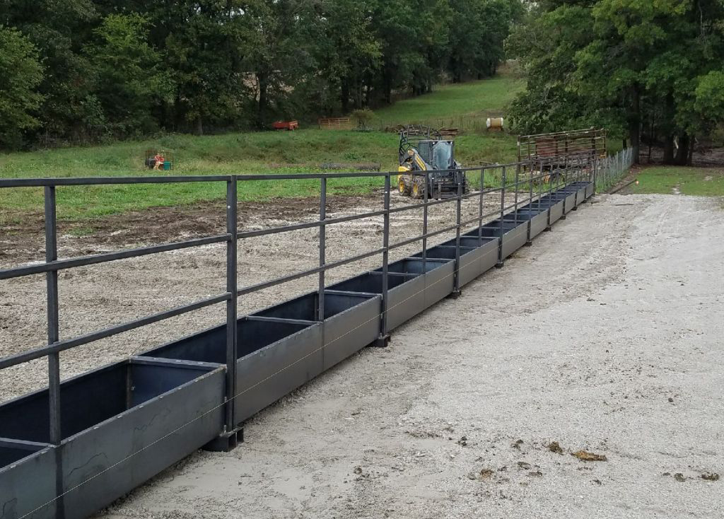 Fence Line Feed Bunks