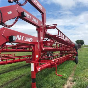 Stack of Hay Liner Trailers